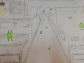 Fluchtpunktperspektive - Stadt 2